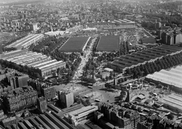 Vue a rienne de paris foire de paris parc des - Parking c parc des expositions porte de versailles ...