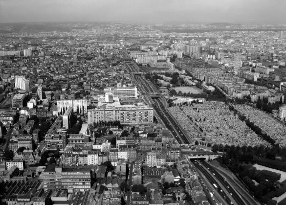 Vue a rienne de paris vue g n rale avec le boulevard p riph rique de la por - Boulevard peripherique de paris ...
