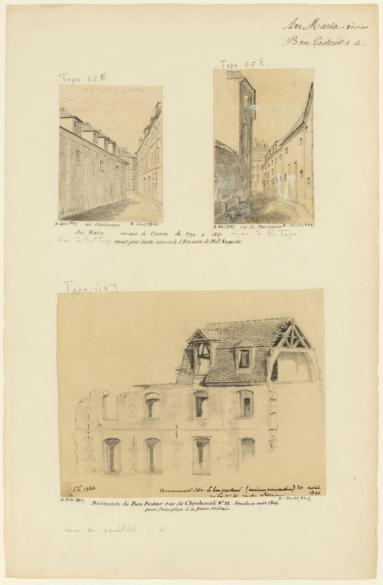 Ave Maria. 2 dessins. Bon pasteur : 1 dessin : rue du fauconnier ...