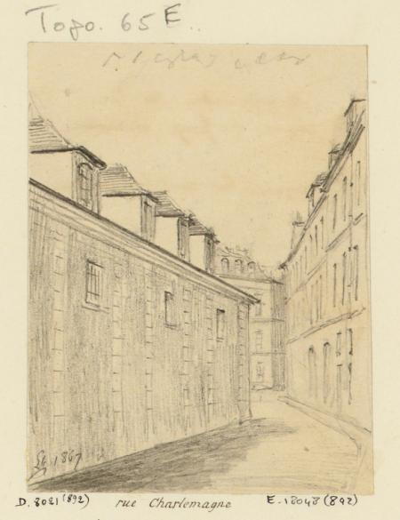 Ave Maria. 2 dessins. Bon pasteur : 1 dessin : rue Charlemagne. Ave ...