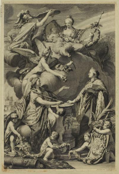 Allégorie du mariage du dauphin et de la princesse Marie-Josèphe de Saxe,  célébré à Paris le 13 février 1747 | Paris Musées