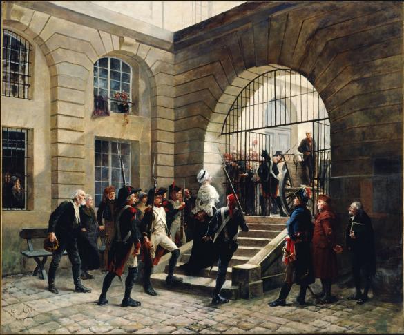 Marie-Antoinette sortant de la Conciergerie, le 16 octobre 1793 | Paris  Musées