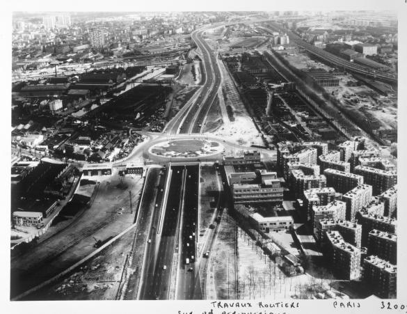 Vue a rienne de paris vue g n rale avec le boulevard p riph rique la port - Boulevard peripherique de paris ...