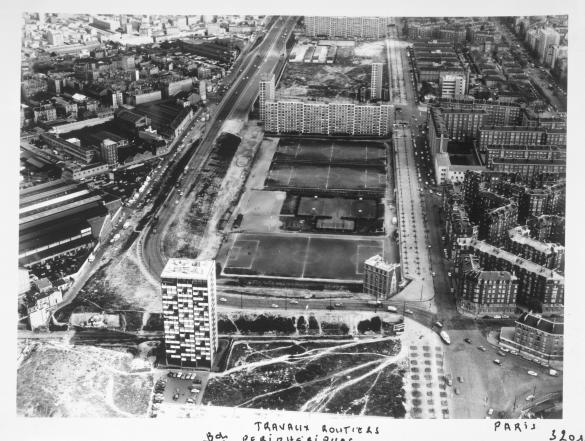 Vue a rienne de paris le stade max roussy le boulevard - Porte peripherique paris ...