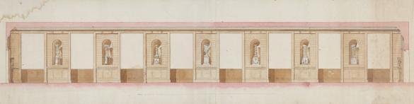 La Galerie Des Antiques Au Garde Meuble Elevation Avec
