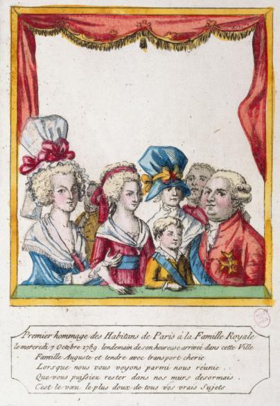 Hommage rendu à la famille Royale par le peuple, le 7 octobre 1789.  Evènement de la Révolution française. | Paris Musées