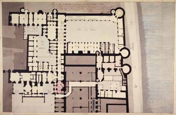 Plan du rez de chauss e de la prison de la conciergerie du palais de justice - Rez de chaussee paris ...
