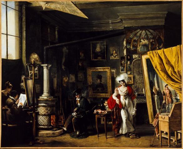 l 39 atelier du peintre t b bitter 1781 1832 paris mus es. Black Bedroom Furniture Sets. Home Design Ideas