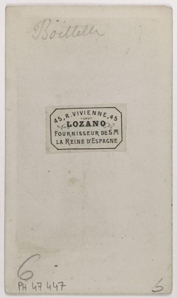 Carte De Visite Verso Tirage Sur Papier Albumine Avant 1897 Paris Musee CarnavaletC Disderi Carnavalet Roger Viollet
