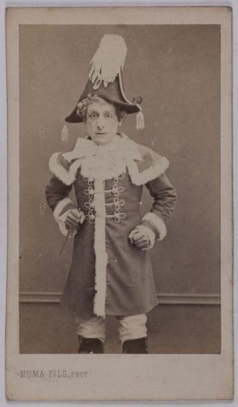 Portrait De Christian Dit Perrin 1821 1889 Acteur Et Chanteur Doprette Carte Visite Recto Tirage Sur Papier Albumin Avant