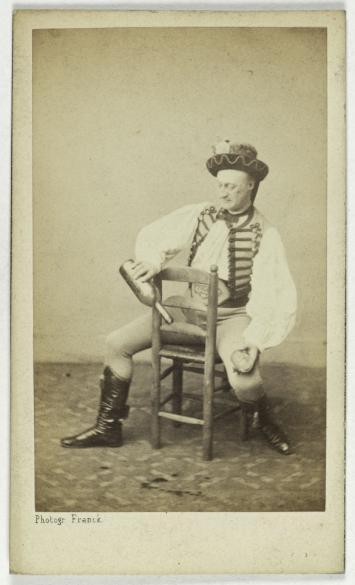 Portrait De Coralli Danseur Photographie Franck Franois Gobinet Villechole Dit 1816 1906 Carte Visite Recto Tirage Sur Papier Albumin