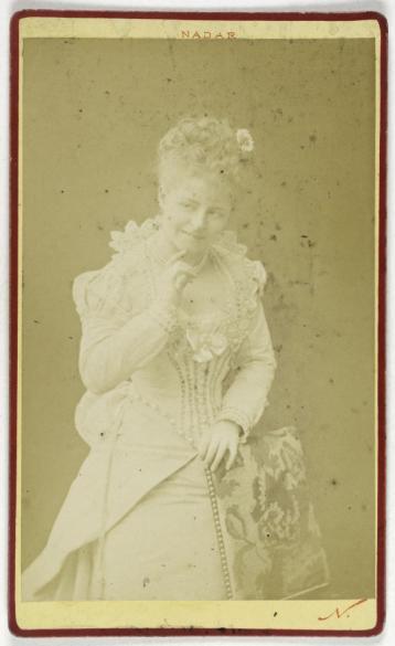 Portrait De Luce Couturier Actrice Carte Visite Recto Photographie LAtelier Nadar Tirage Sur Papier Albumine 1870 1890
