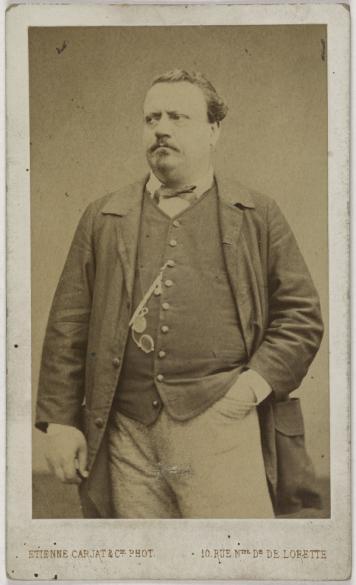 Portrait De Joseph Darcier Dit Lemaire 1820 1883 Compositeur Chansonnier Et Comdien Carte Visite Recto Tirage Sur Papier Albumin