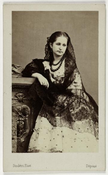 Portrait De La Princesse Gortschakoff Carte Visite Recto Photographie Disdri Tirage Sur Papier Albumin 1860 1890 Paris Muse Carnavalet