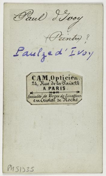 Portrait DIvoy Paulze D Homme De Lettres Journaliste Carte Visite VersoTirage Sur Papier Albumin Entre 1860