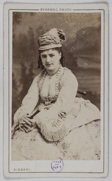 Portrait De Louise Marie Actrice Carte Visite Recto Photographie Disdri Tirage Sur Papier Albumin 1860 1890 Paris Muse Carnavalet