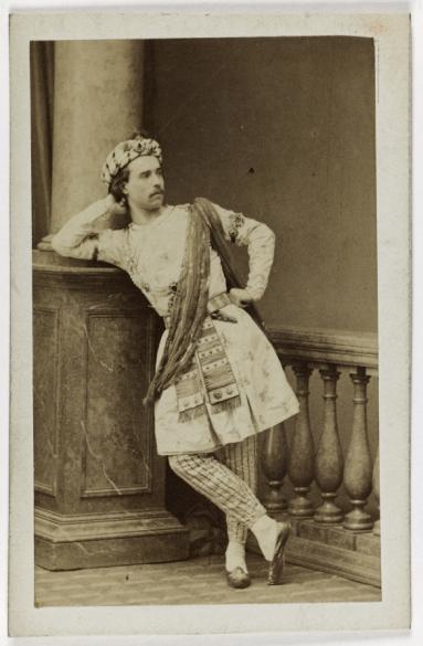 Portrait De Louis Mrante 1828 1887 Danseur Chorgraphe Et Matre Ballet LOpra Carte Visite Recto Tirage Sur Papier Albumin 1860 1890