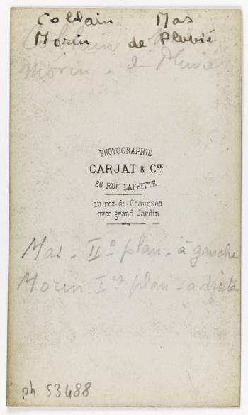 Portrait De Mas Violoniste Avec Des Amis Musiciens Carte Visite Verso Tirage Sur Papier Albumine 1860 1890 Paris Musee Carnavalet