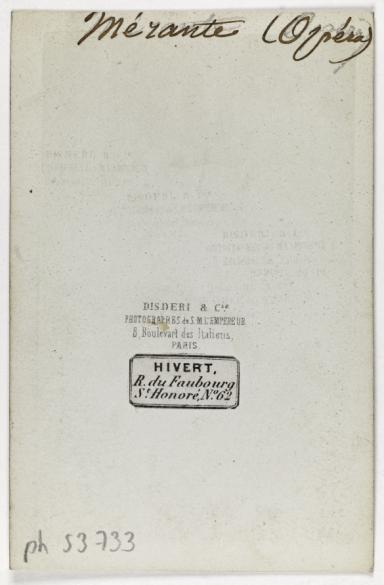 Portrait De Louis Merante 1828 1887 Danseur Choregraphe Et Maitre Ballet A LOpera Carte Visite Verso Tirage Sur Papier Albumine 1860 1890
