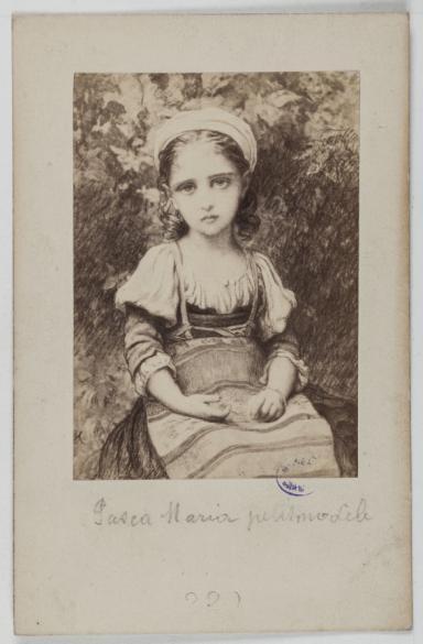Goupil Cie Portrait De Maria Pasca Modle Carte Visite Recto Tirage Sur Papier Albumin 1860 1890 Paris Muse Carnavalet