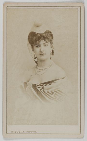 Portrait De Marthe Marie Glissoux Dite Leduc Carte Visite Photographie DAndr Adolphe Eugne Disdri 1819 1889 Tirage Sur Papier Albumin