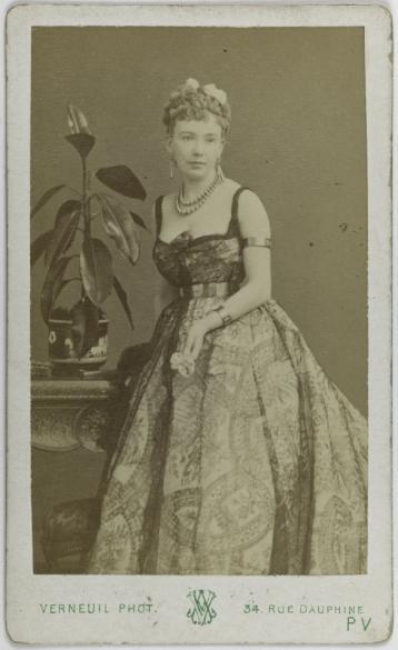 Portrait De Cora Pearl Dite Elisabeth Emma Crouch