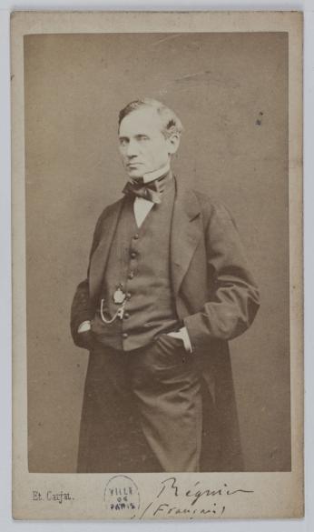 Portrait De Franois Joseph Regnier La Brire 1807 1885 Dit Comdien Et Dramaturge Carte Visite Recto Photographie Carjat Cie