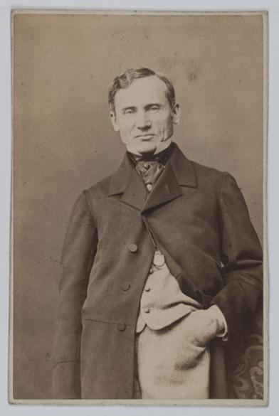 Portrait De Franois Joseph Regnier La Brire 1807 1885 Dit Comdien Et Dramaturge Carte Visite Recto Photographie Bertall Charles