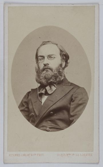 Portrait De Raoul Rigault 1846 1871 Procureur Et Membre La Commune En Carte Visite Recto Photographie Carjat Cie