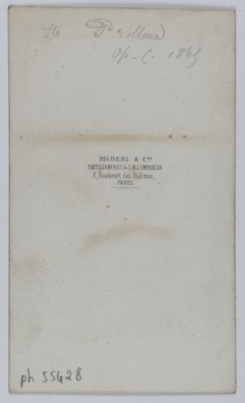 Portrait De Prilleux Acteur Et Chanteur LOpra Comique En 1865 Carte Visite Verso Photographie Disderi Cie Tirage Sur Papier Albumin
