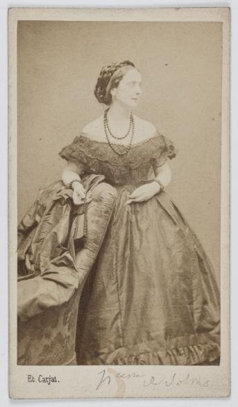 Dite Princesse De Solms Fille Laetitia Bonaparte Femme Lettres Et Directrice La Revue Internationale Carte Visite Recto