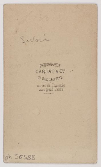 Portrait De Camillo Sivori 1815 1894 Violoniste Et Compositeur Carte Visite Verso Tirage Sur Papier Albumin 1860 1890 Paris Muse Carnavalet