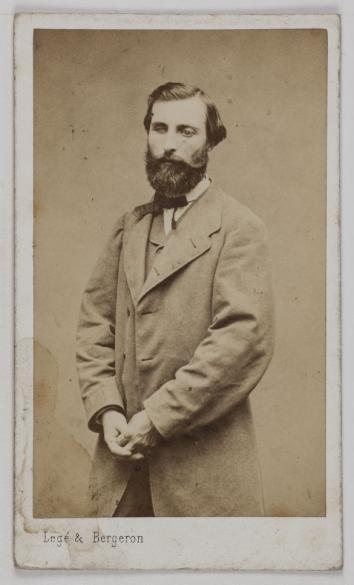 Portrait De Louis Navatel 1831 1892 Dit Vidal Sculpteur Carte Visite Recto Photographie Lege Bergeron Actif 1864 A 1880