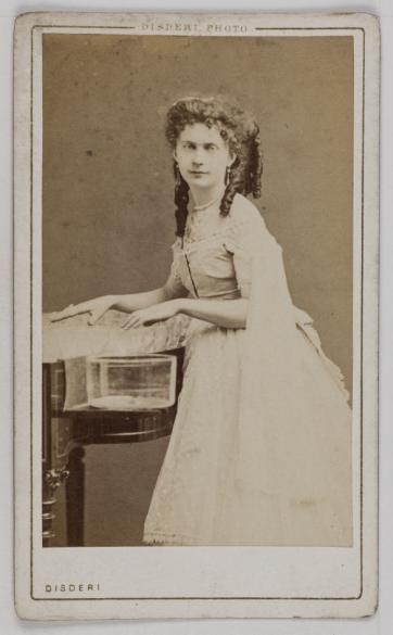 Portrait DAnna Voght Actrice Carte De Visite Recto Photographie DEugne Disdri 1819 1889 Tirage Sur Papier Albumin 1860 1890