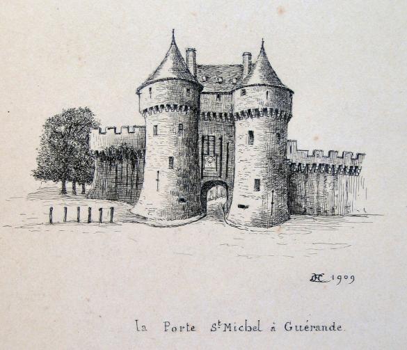 Les vieux ch teaux de france la porte saint michel for Porte unie st michel
