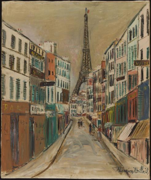 La Rue Saint Dominique Et La Tour Eiffel Paris Musees