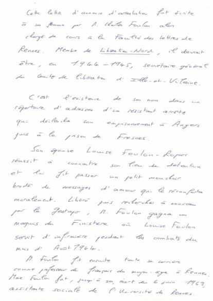 Lettre De Charles Louis Foulon à Sa Femme Paris Musées