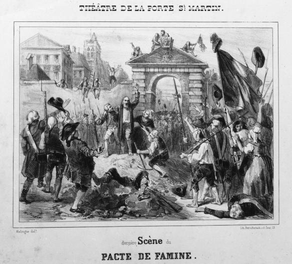 Th tre de la porte saint martin derni re sc ne du pacte de famine paris mus es - Theatre porte saint martin ...