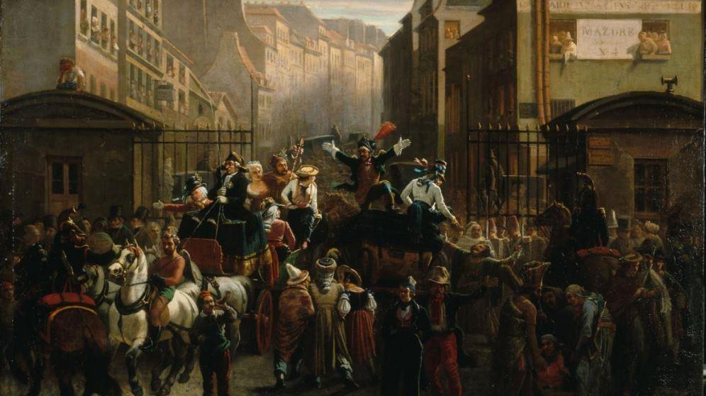 Nanteuil, Charles-Gaugiran. La descente de la courtille. 1842 © Musée Carnavalet / Roger-Viollet