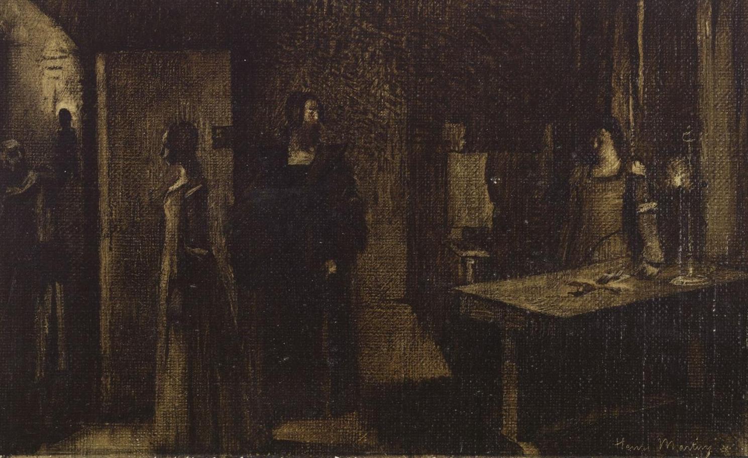 a6d62c44f HENRI MARTIN. LE CRUCIFIX. VERS 1887.