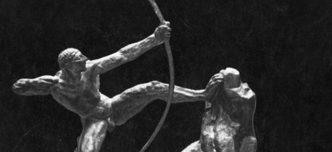 """""""Héraklès archer"""", par Antoine Bourdelle (1861-1929), sculpteur français.© Albert Harlingue / Roger-Viollet"""