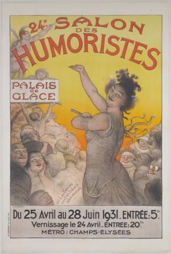 24e SALON/ DES/ HUMORISTES/ PALAIS/ de/ GLACE/ Du 25 Avril au 28 ...