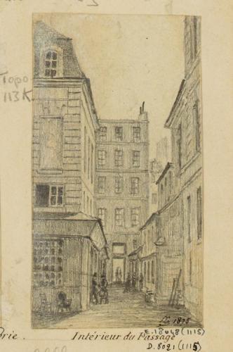 Passages R. G. : intérieur du passage de la Petite Boucherie, place ...