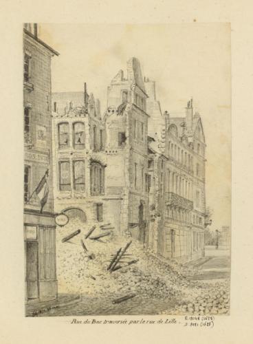 d00b77b33f6c54 Siège de Paris sous la Commune   rue du bac traversée par la rue de ...