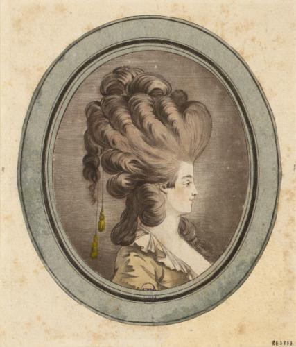 Tête de jeune femme à la coiffure Louis XVI | Paris Musées
