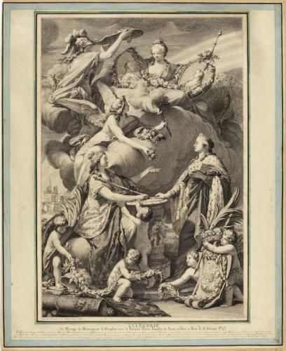 Allégorie / du mariage de Monseigneur le Dauphin avec la Princesse Marie- Joséphe de Saxe, célébré à Paris le 15 février 1747. (IFF2) | Paris Musées