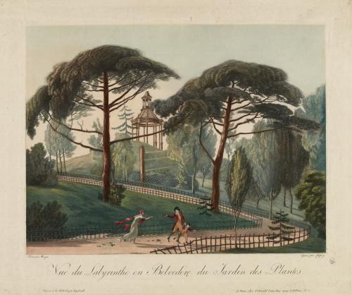 Vue du Labyrinthe ou Belvédère du Jardin des Plantes.   Paris Musées