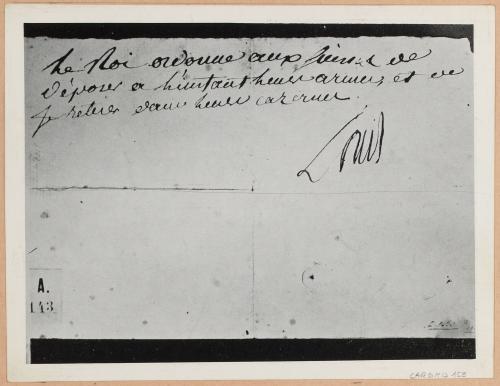 Dernier ordre de Louis XVI, le 10 août 1792 | Paris Musées