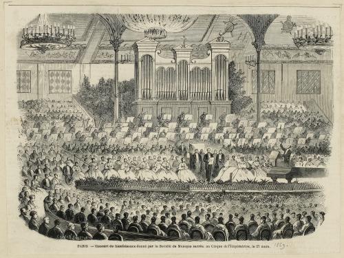 Paris concert de bienfaisance donné par au cirque de l