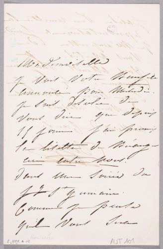 Lettre Signée Par Virginie Déjazet à Rose Chéri Pour Lui